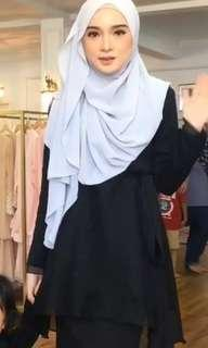Baju Kurung royal zehra black Minimalace