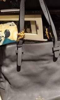 Valentino light grey blue leather tote 1200