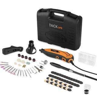 TACKLIFE 🔥🔥🔥 4.2 out of 5 stars  300 Reviews Tacklife Rotary Tool RTD35ACL 135W Multi-Functional Tool with 80 Accessories Kit and 4 Attachments, Varible Speed 10000-32000rpm, Combitool for Craft Projects, DIY Creations, Cutting, Engraving