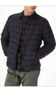 🚚 [MUJI無印良品]男輕量澳洲羽絨可攜式無領外套L暗藍