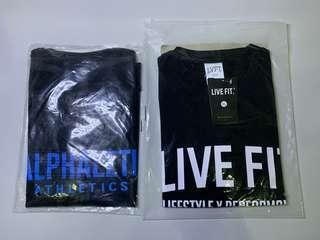 🚚 Alphalete黑藍 LIVE FIT 純棉T恤 修身上衣 運動短袖