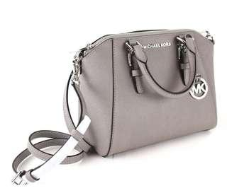 🚚 [Medium] Michael Kors Small Ciara Satchel Pearl Grey Crossbody Bag