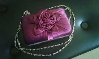 Purple rose purse