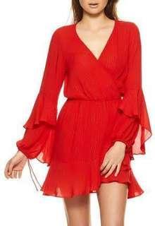Auguste Poet Wrap Mini Dress Size 6