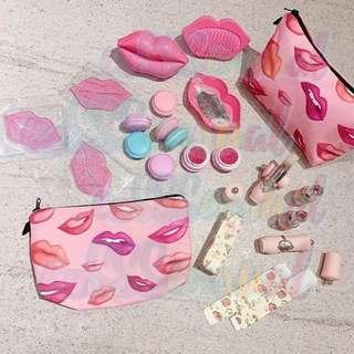 [Kiss Me Not] Rose Marguerite Kisses Lip Set Lip Balm Lip Scrub Lip Mask Comb Mirror
