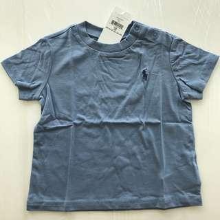🚚 Ralph Lauren ~ Cotton Jersey Crewneck T-shirt (12MTHS)