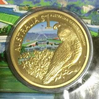 "Celebrate Australia $1 coin series ""Australia Capital Territory""."