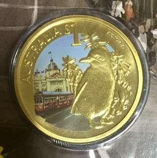 2009 celebrate Australia series $1 coin Victoria.