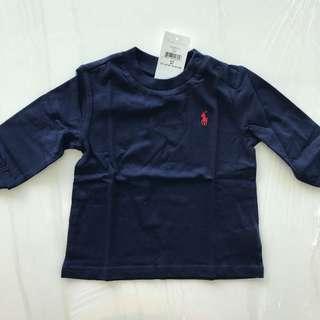 🚚 Ralph Lauren ~ Cotton Long-Sleeve T-Shirt (9MTHS)