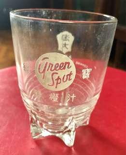 Green Spot Rocket Glass