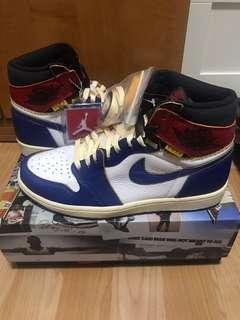 US9  Nike X Union Air Jordan 1 Blue Exclusive 580422d44