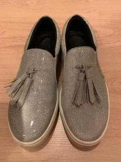 Peddar red sliver women shoes 女裝銀色厚底鞋 鬆高鞋 便服