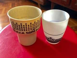 Vintage F&N Plastic Cups