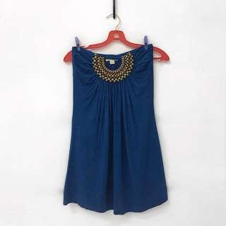 Forever 21 Boho Strapless Dress