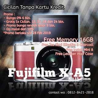Cicilan kamera fujifilm x-a5, tanpa kartu kredit