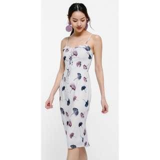 🚚 LB Siora Printed Lace-up Pencil Dress