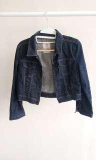 Crop jeans denim jacket