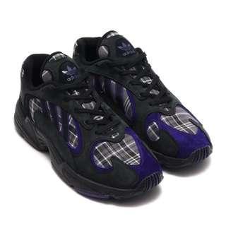 7db2a648557  PO  Adidas Yung 1 Plaid Pack Men s Sneakers - Black Purple