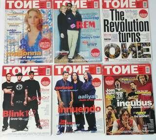 TONE MAGAZINE 2000-2002 malaysia music magazine