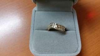 14k黃金碎鑽石戒指