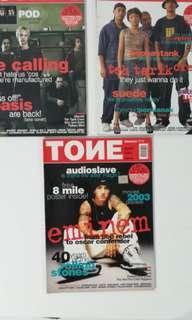 TONE music magazine 2000-2002 teh tarik crew