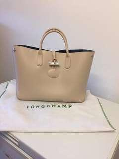 Authentic Longchamp ivory leather tote