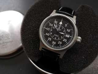 Aeromatic 德國飛行腕錶 (黑面細飛蝴蝶扣 - A1143)
