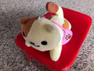 🚚 Neko Atsume Peaches (post man edition) plush key ring
