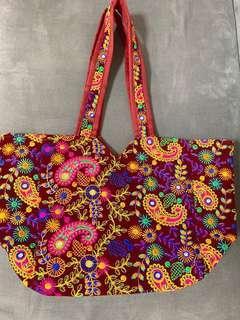 流蘇民族刺繡袋 tote bag (包順豐站)