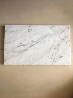🚚 Rectangle marble display plate
