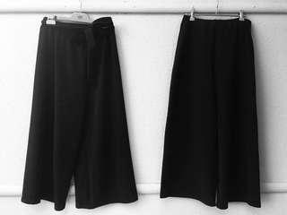 Black 3/4 boot high waisted pants