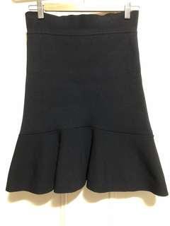 Scanlan Theodore Crepe Knit Ruffle Skirt