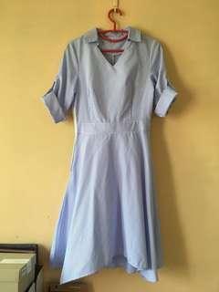 🚚 SheIn Blue Striped Dress