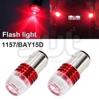 2pcs 1157 COB Brake Light With Strobe Function