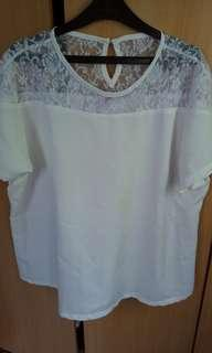 White Blouse Plus Size never been worn