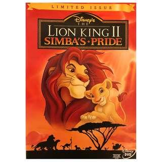 DVD - LION KING II SIMBA'S PRIDE LIMITED ISSUE (ORIGINAL USA IMPORT CODE 1)