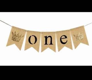 🚚 first birthday banner