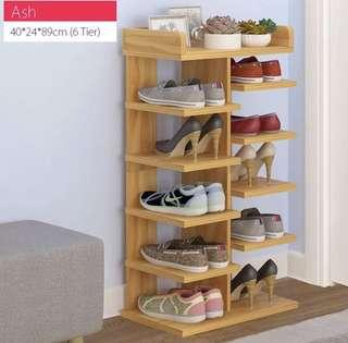 6 Tier sleek wooden shoe rack(preorder)