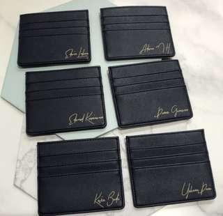cardholder saffiano leather customized with your name