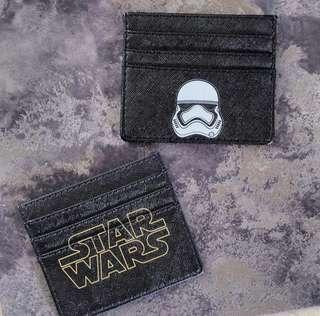cardholder star wars saffiano leather customized with your name custom