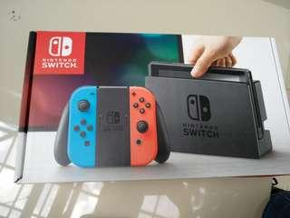 Nintendo Switch full set (warranty until August 2019) (No Nego , first come first serve)