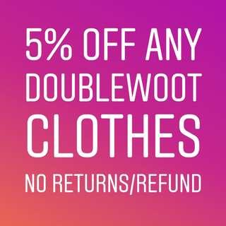 Doublewoot 5% off your order