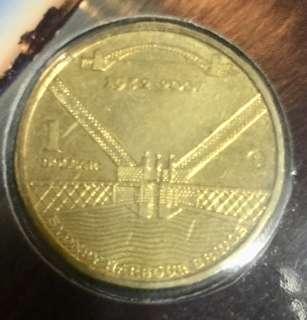 Australia commemorative $1 coin Sydney Harbour.