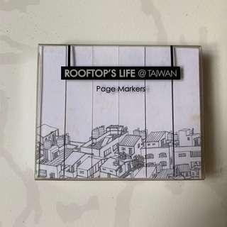 🚚 Post-it Page Markers Taiwan Cityscape Rooftop