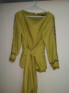 Jovian 2 piece modern styled baju kurung, brand new