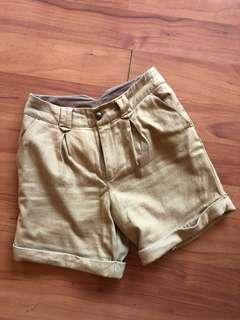 Topshop High Waist Camel Colored Shorts