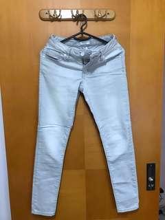Forever21 白灰色牛仔褲