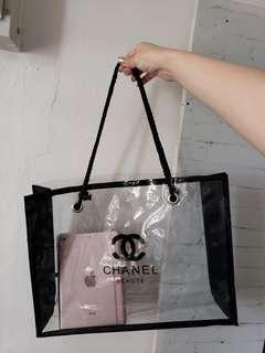 包郵Chanel Gift Tote Bag 沙灘袋 瑜伽袋 買餸袋