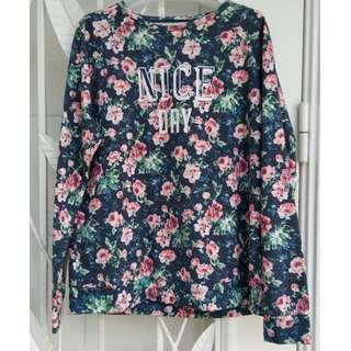 Floral printed sweater top