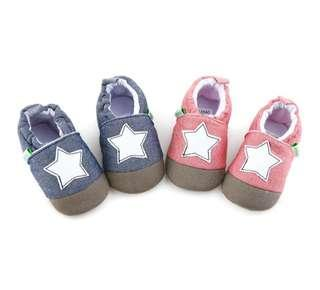 🚚 🌟PM for price🌟 🍀Baby Boy Girl Star Printed Non Slip Soft Sole Shoes🍀
